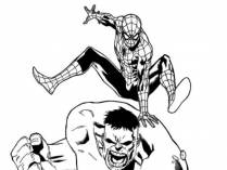 Hulk y Spideman