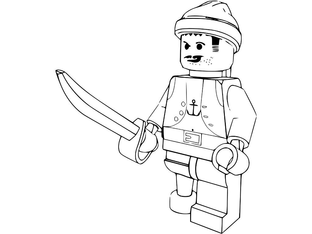Free coloring pages of lego pelicula