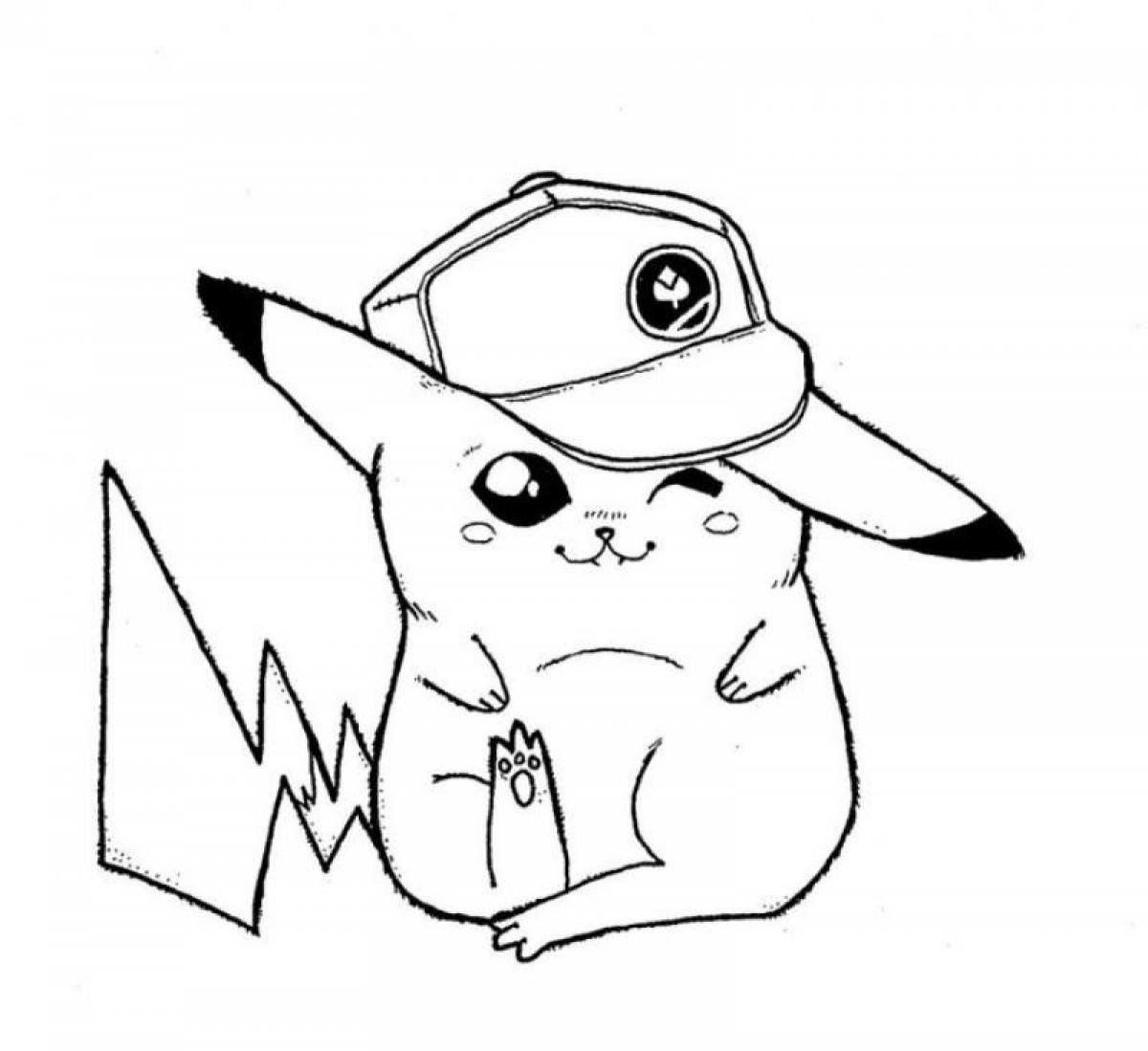 Dibujos de pikachu para colorear for Pikachu coloring pages printable