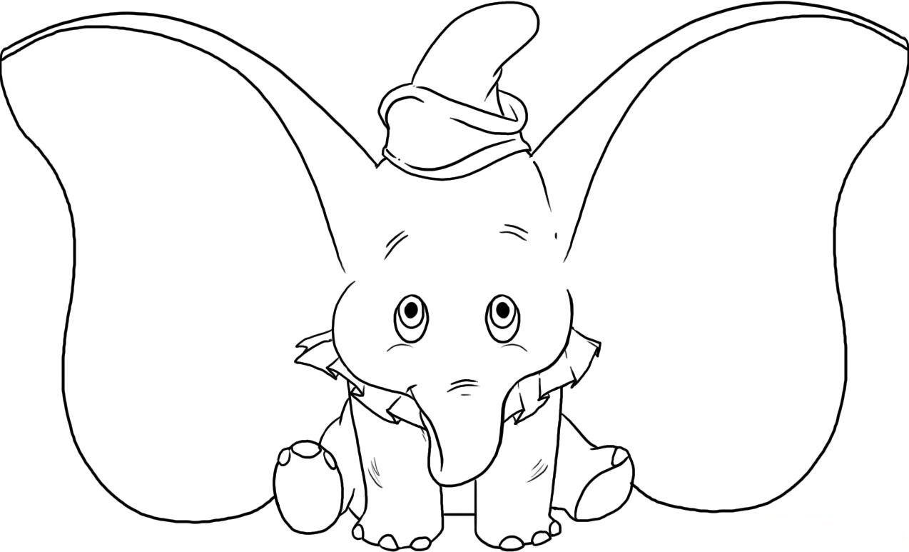 baby dumbo coloring pages more information - Dumbo Elephant Coloring Pages