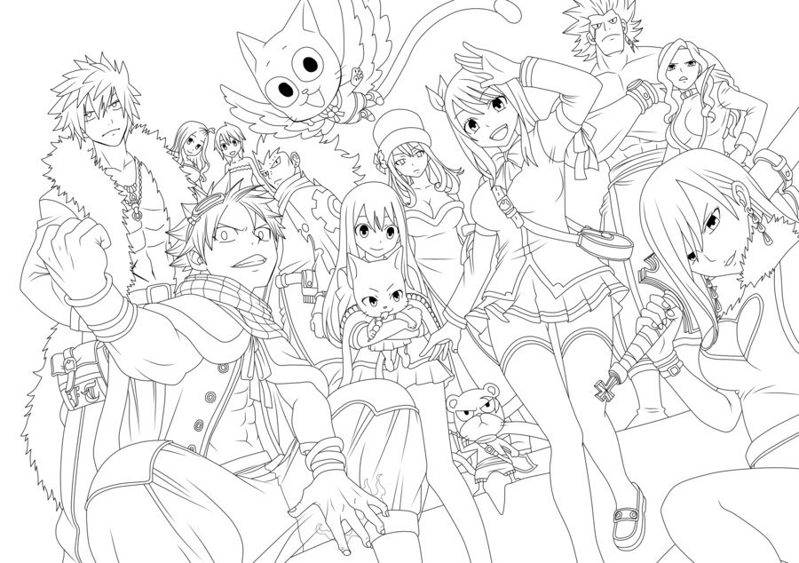 fairy tail coloring pages anime dibujos para colorear de fairy tail