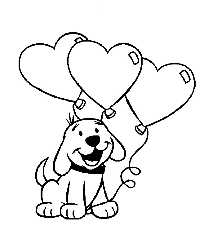 cartoon valentines day coloring pages-#29