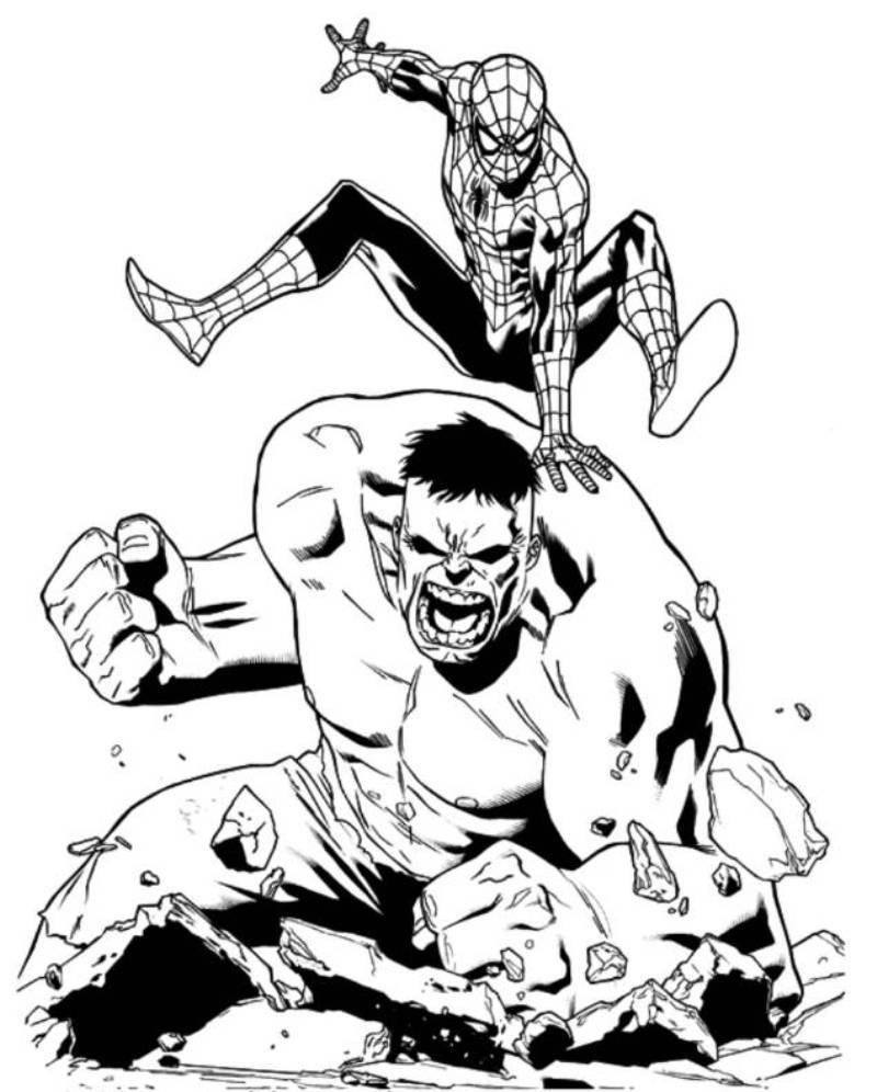spider hulk coloring pages - photo#3