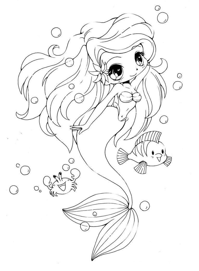 mermaid coloring pages - photo#30