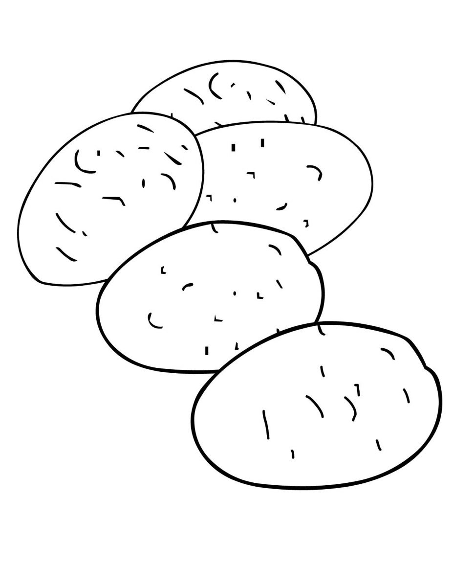Sack Of Potato Coloring Sheet Coloring Pages Potato Coloring Page