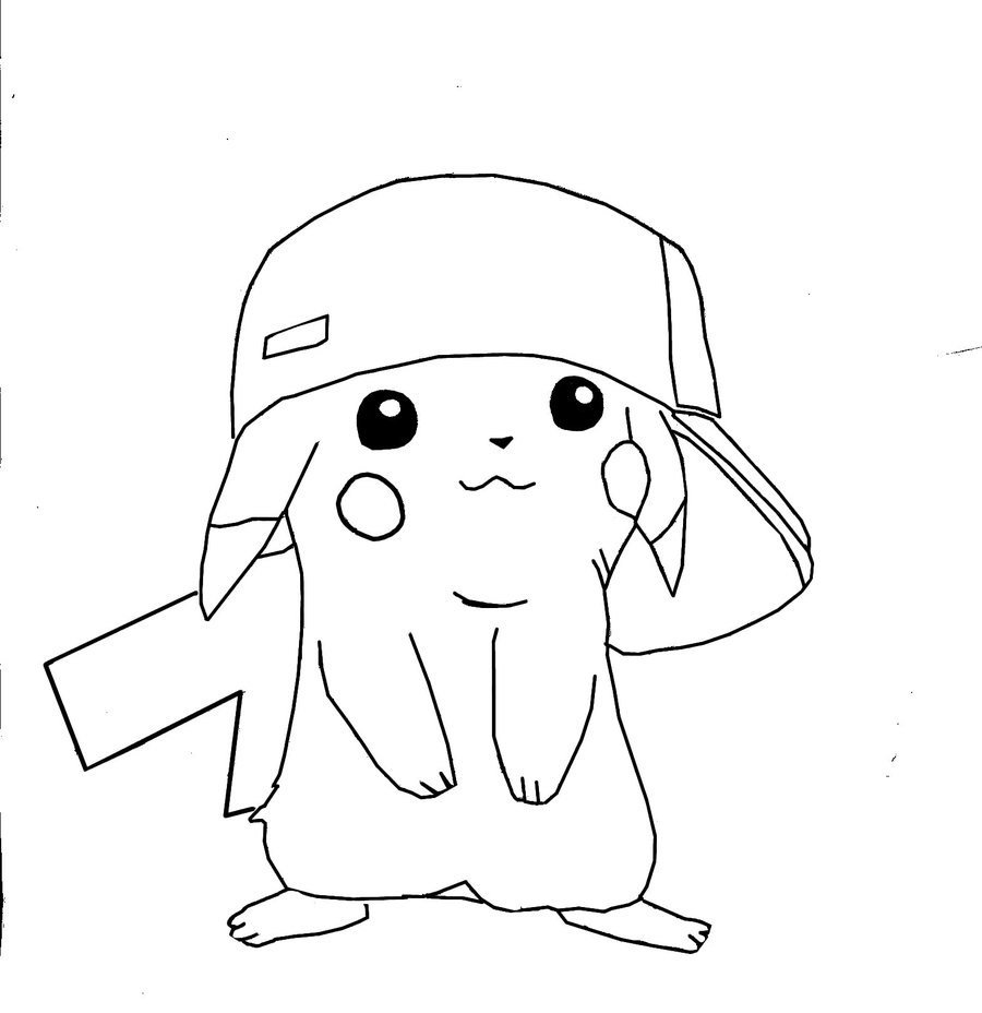 Free coloring pages of pikachu y pichu