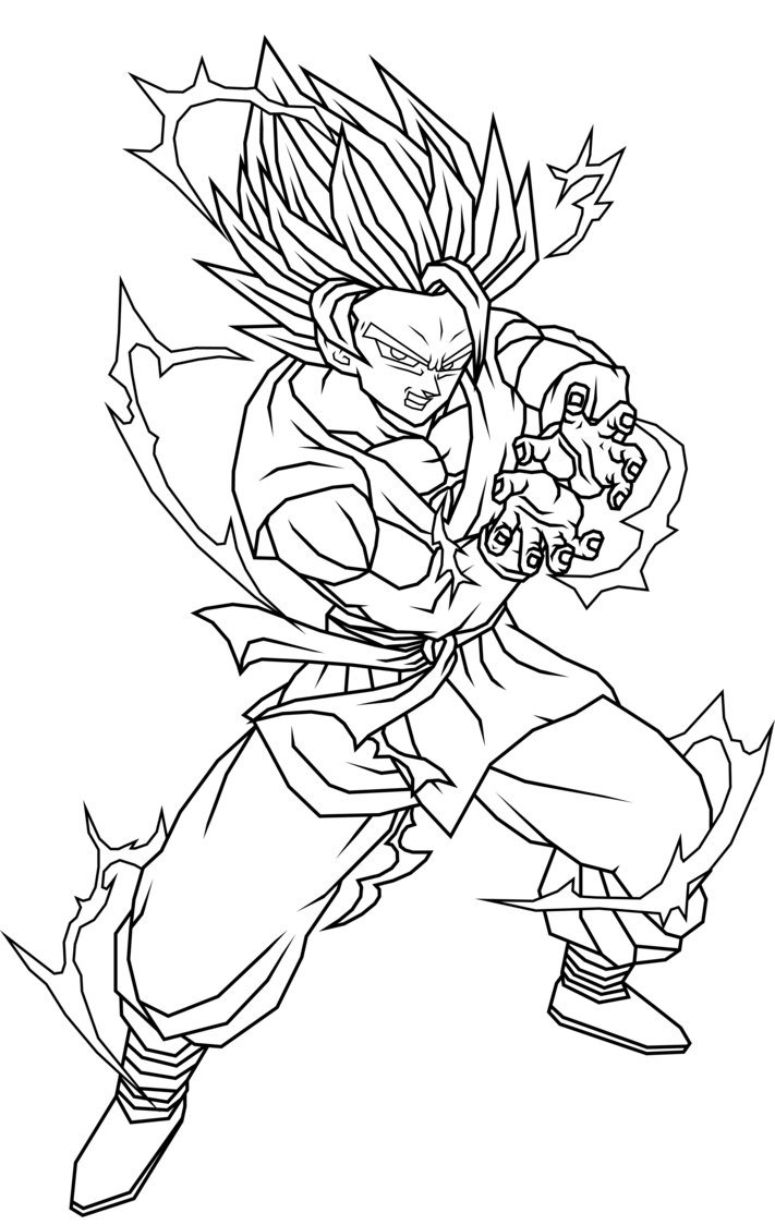 goku gt 3 para pintar Colouring Pages