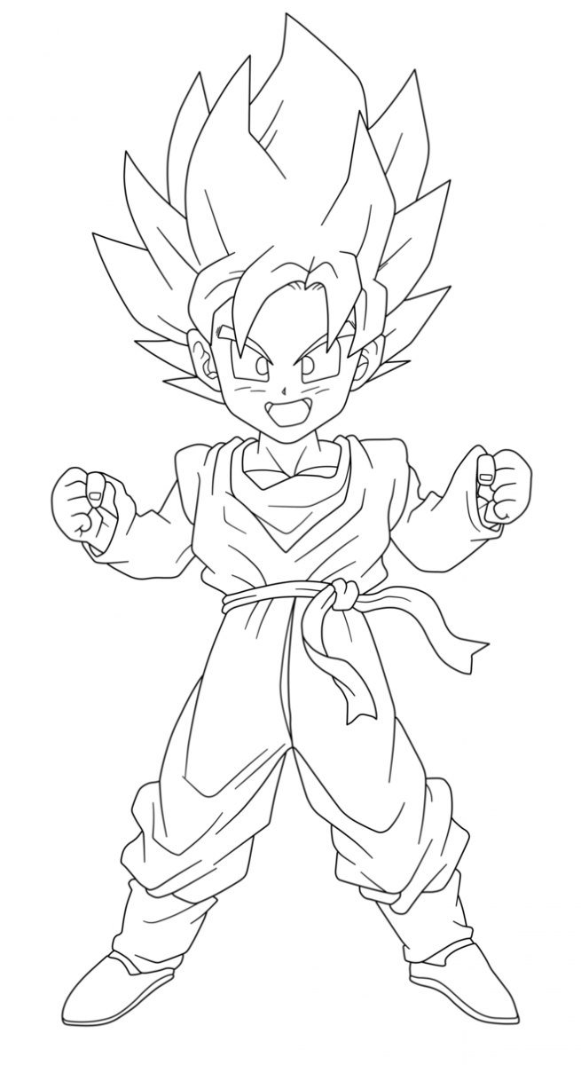 goten coloring pages - photo#5