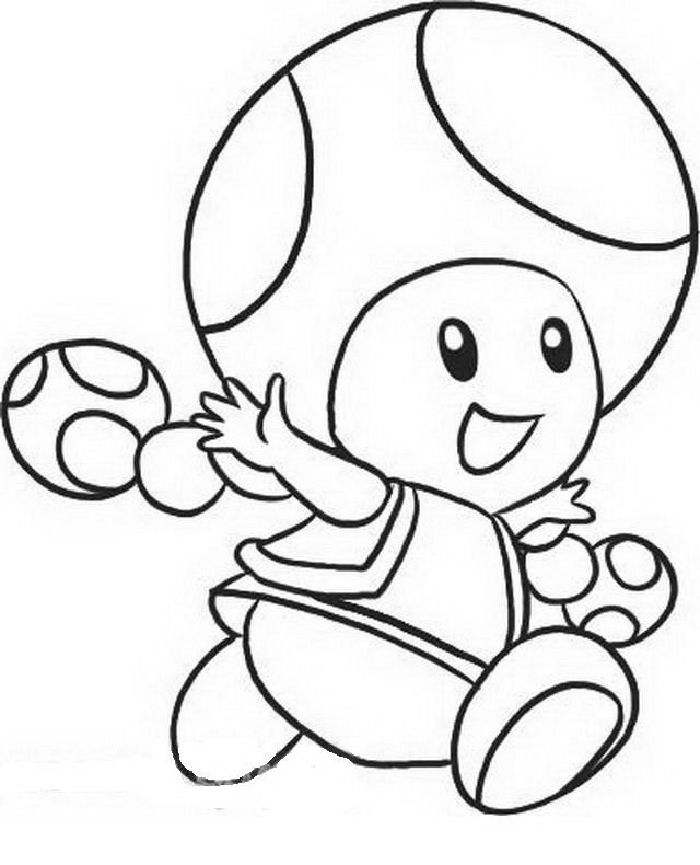 Free Coloring Pages Of And Mario Toad Toad Mario Coloring Pages