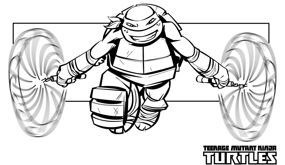 ninja turtle coloring pages michelangelo - photo#32