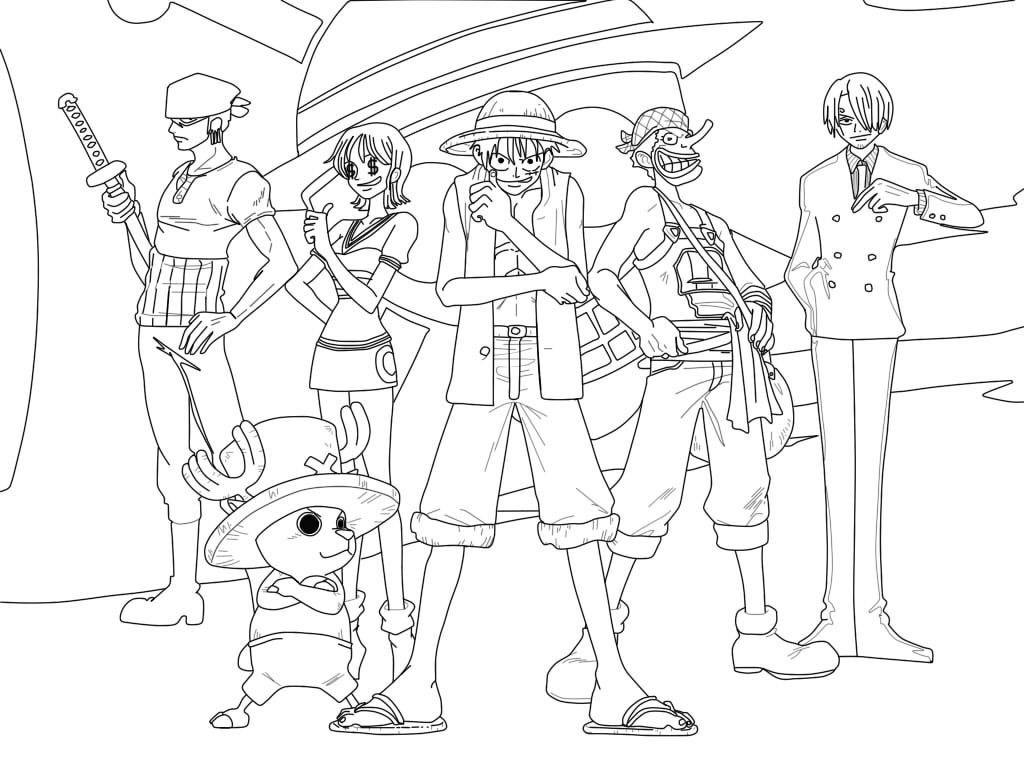One Piece Luffy Coloring Pages