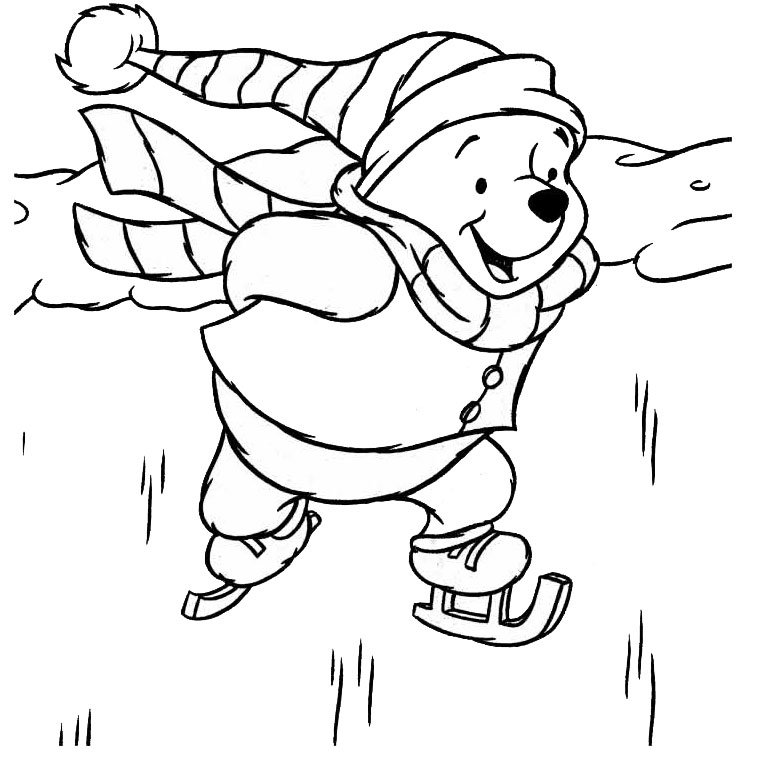 Pooh Christmas Coloring Pages